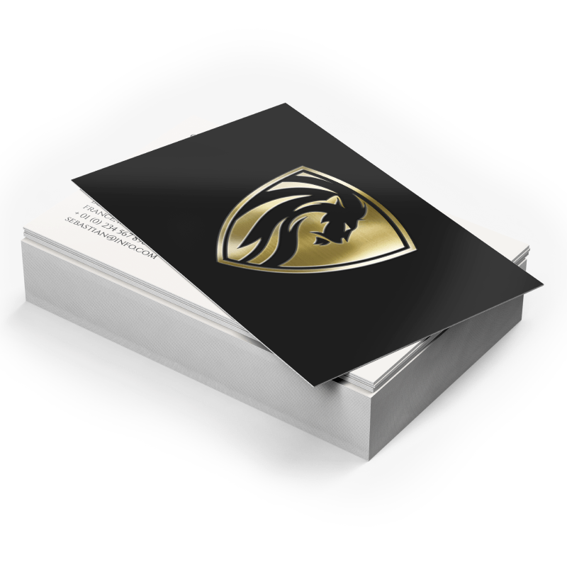 Business Cards Matte Lamination + Gold / Silver Foil