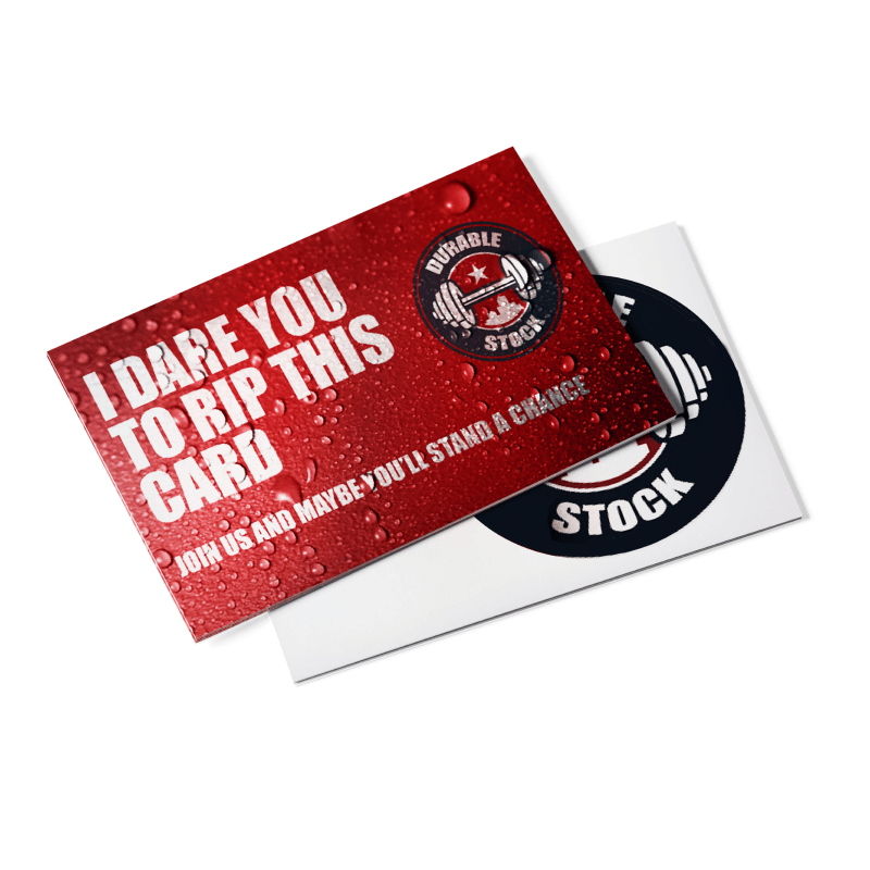 Durable Postcards 16pt Tear / Waterproof Stock
