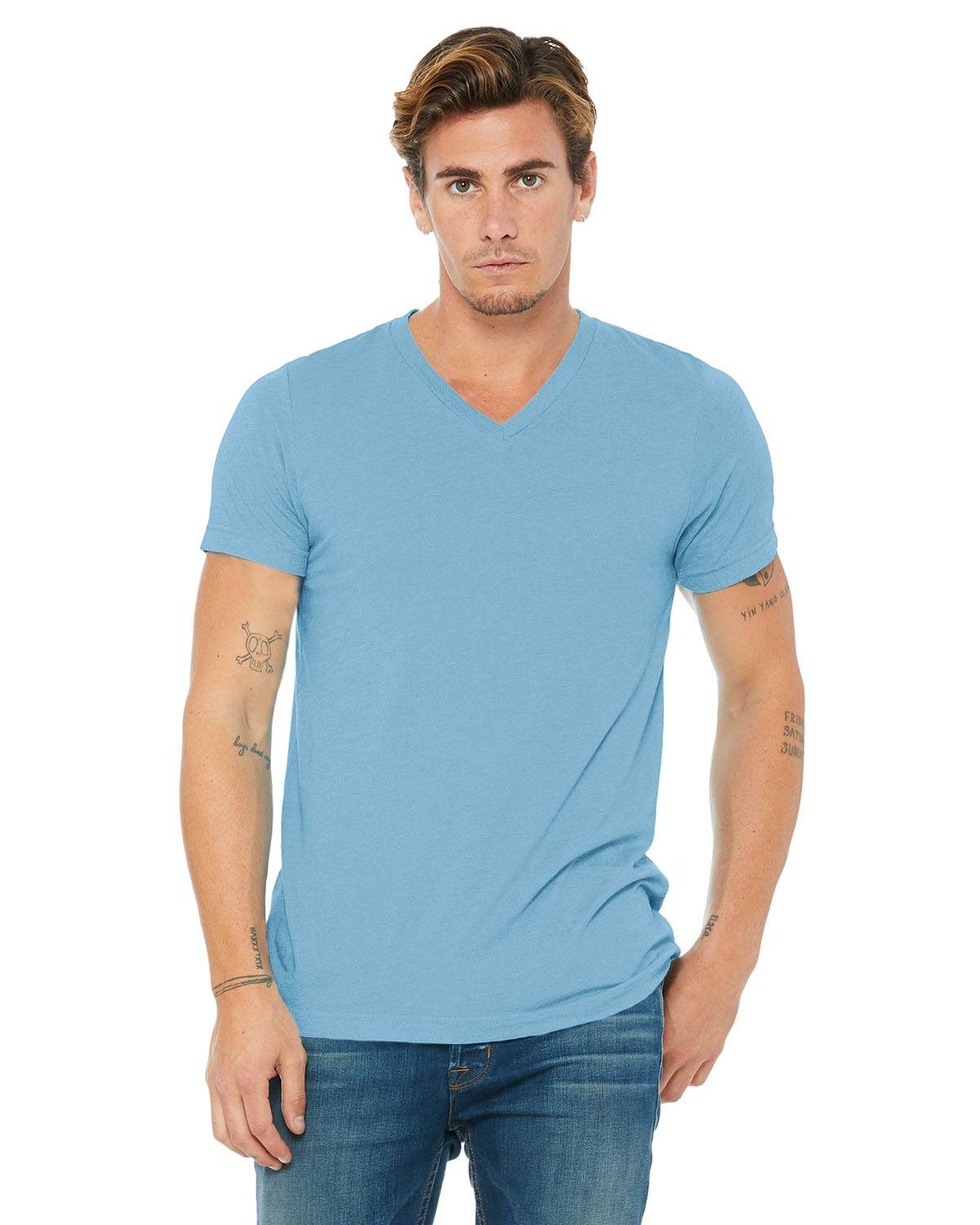 Bella + Canvas Unisex Triblend V-Neck T-Shirt | 3415C