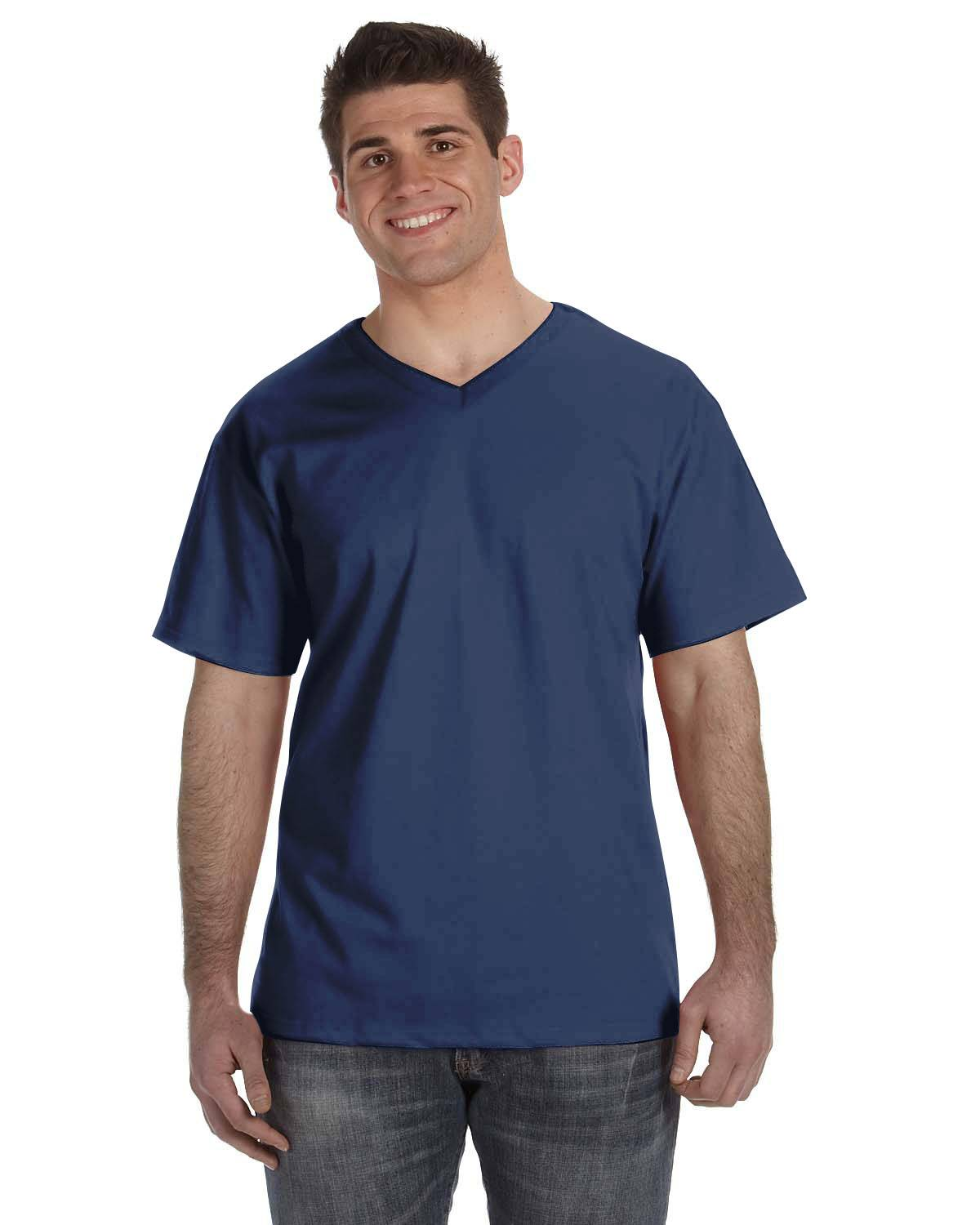 Fruit of the Loom Adult 8.3 oz./lin. yd. HD Cotton V-Neck T-Shirt | 39VR