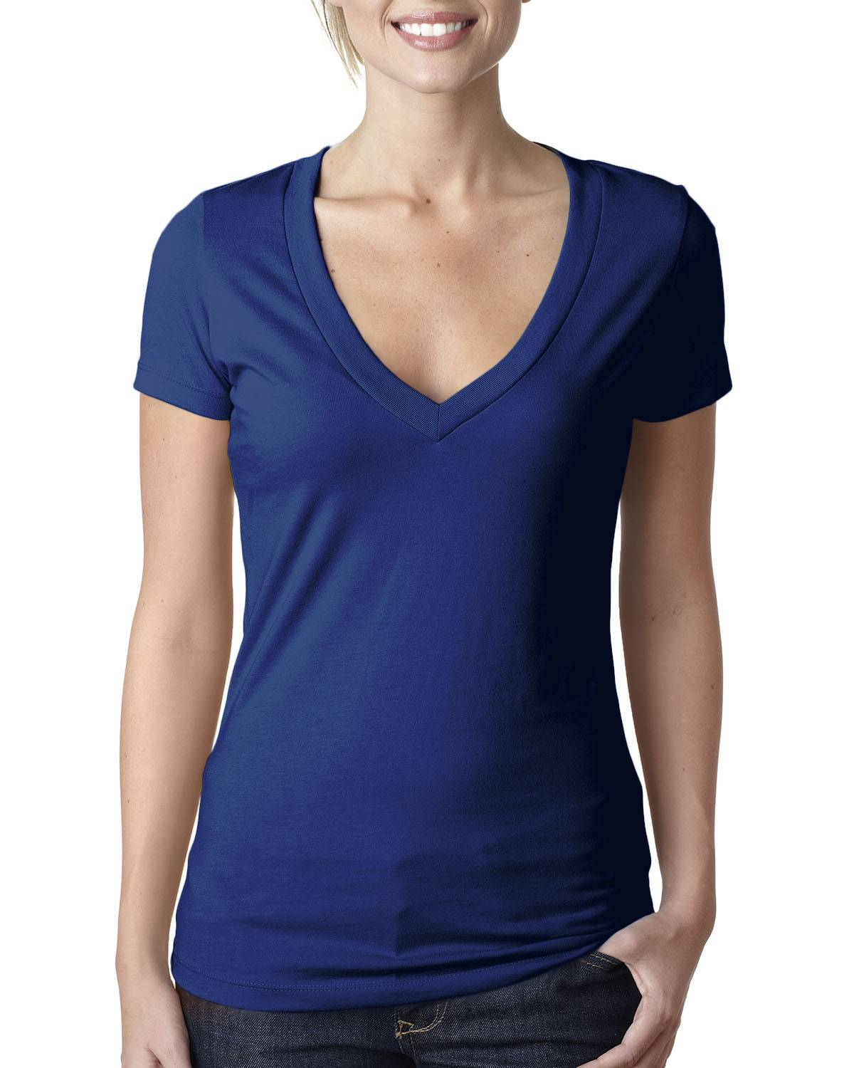 Next Level Ladies' CVC Deep V | 6640