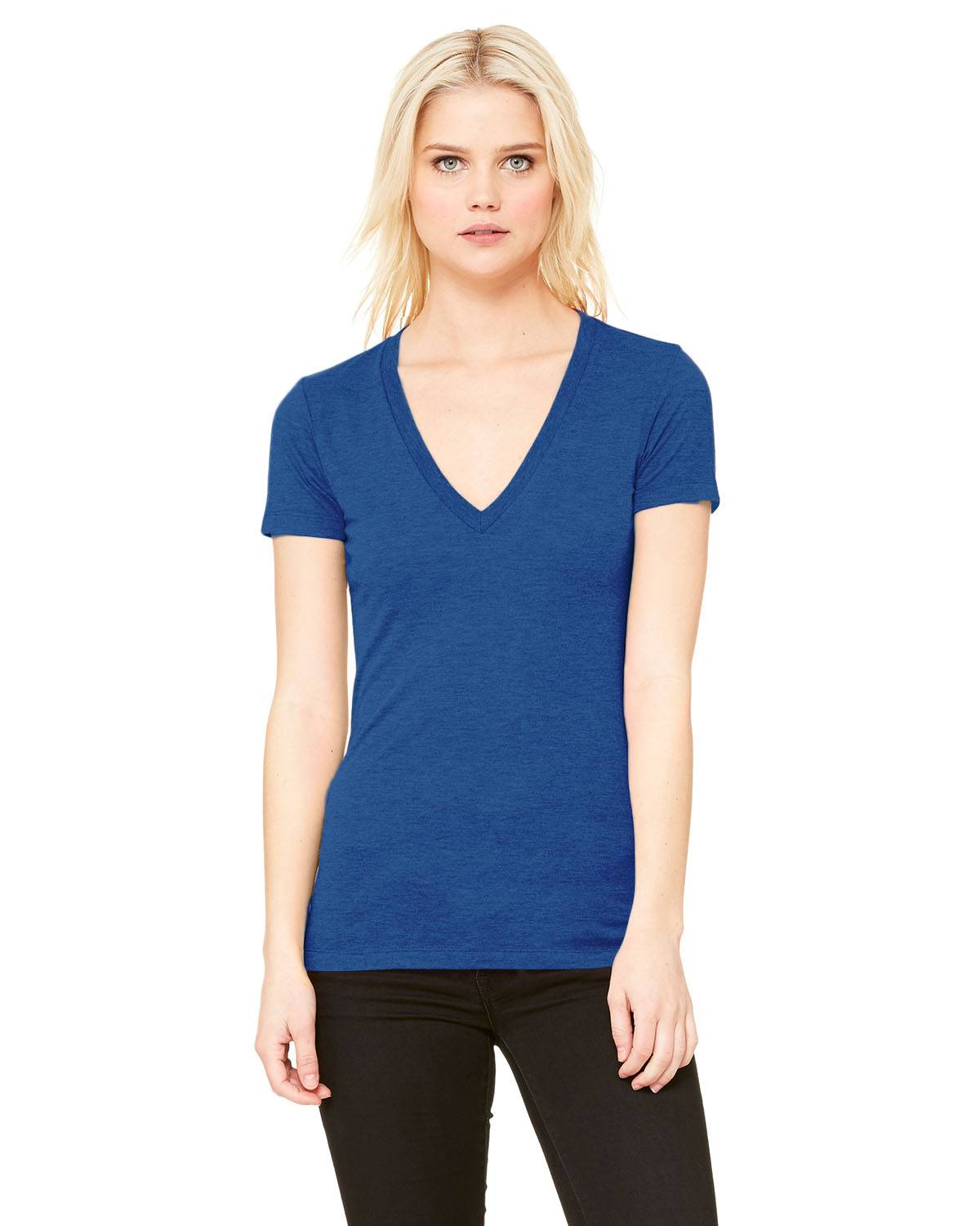 Bella + Canvas Ladies' Triblend Short-Sleeve Deep V-Neck T-Shirt | 8435