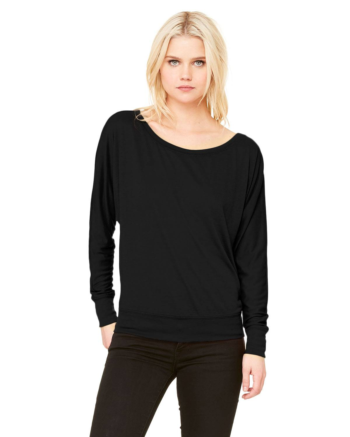 Bella + Canvas Ladies' Flowy Long-Sleeve Off Shoulder T-Shirt | 8850