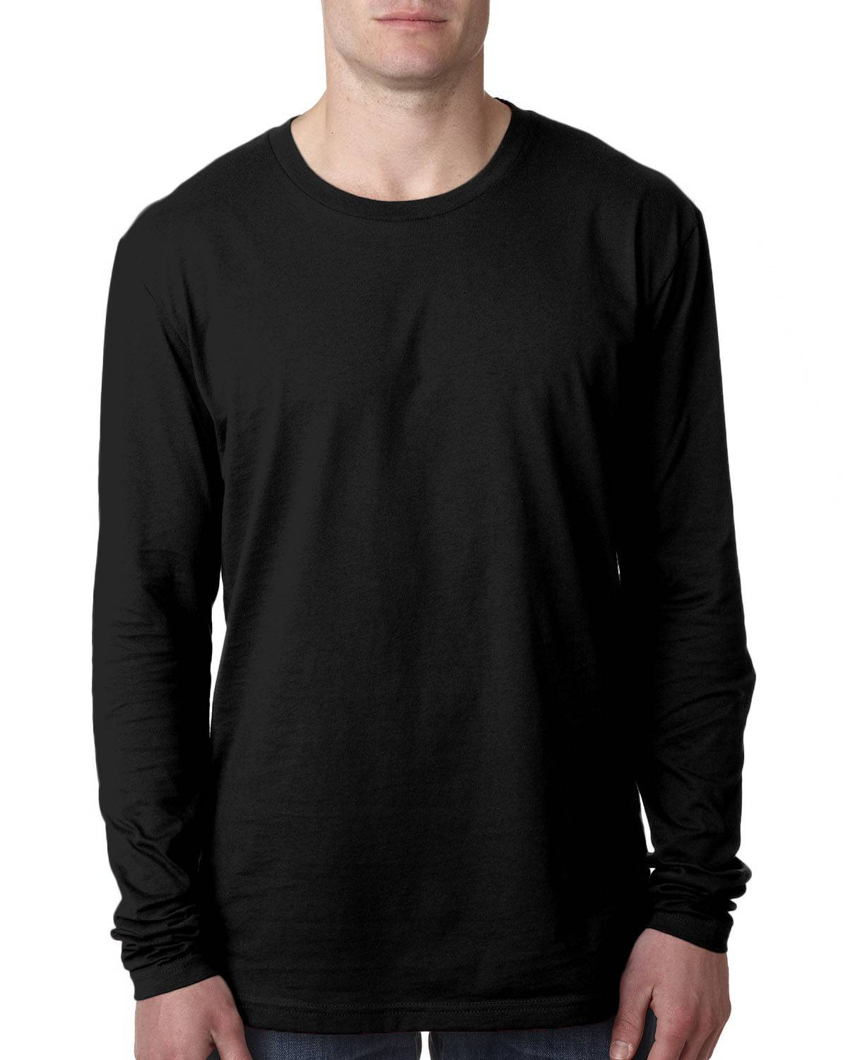 Next Level Men's Cotton Long-Sleeve Crew | N3601