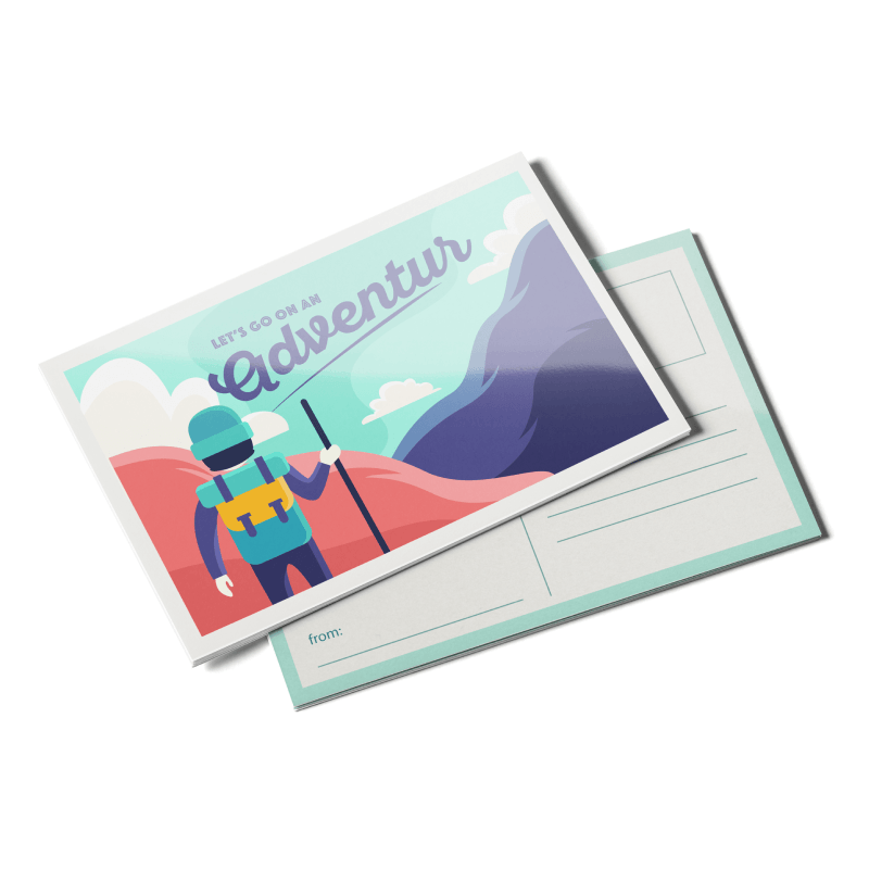 Postcards 14pt Writable + AQ (C1S)