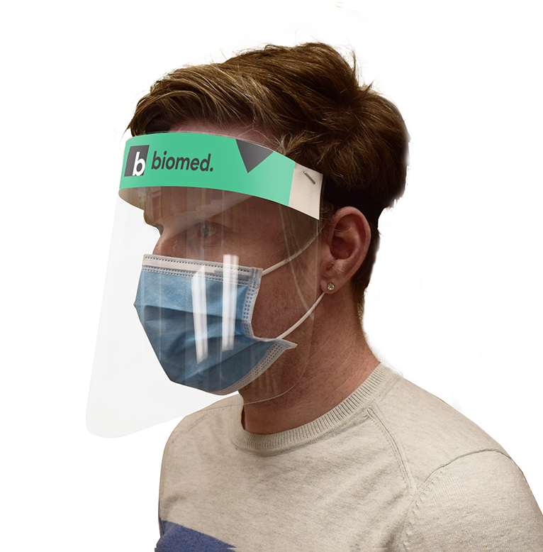 Branded Face Shields Face Shield Visor with Sticker