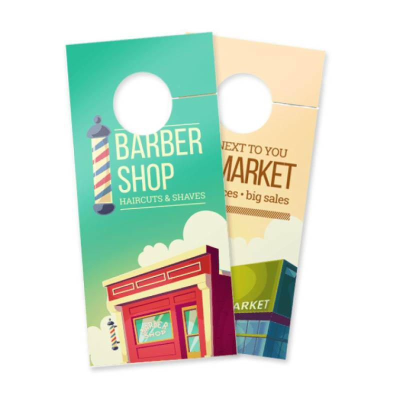 Matte Door Hangers, wholesale door hangers, door hanger printing, real estate door hangers