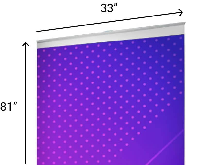 Standard Pull Up Banner Size