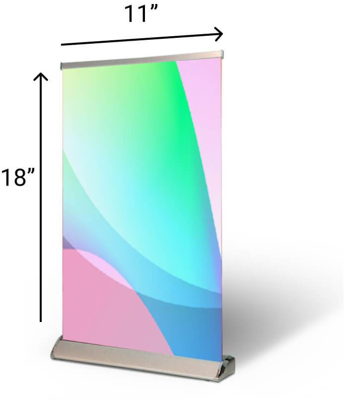 Table Top Pull Up Banner Size