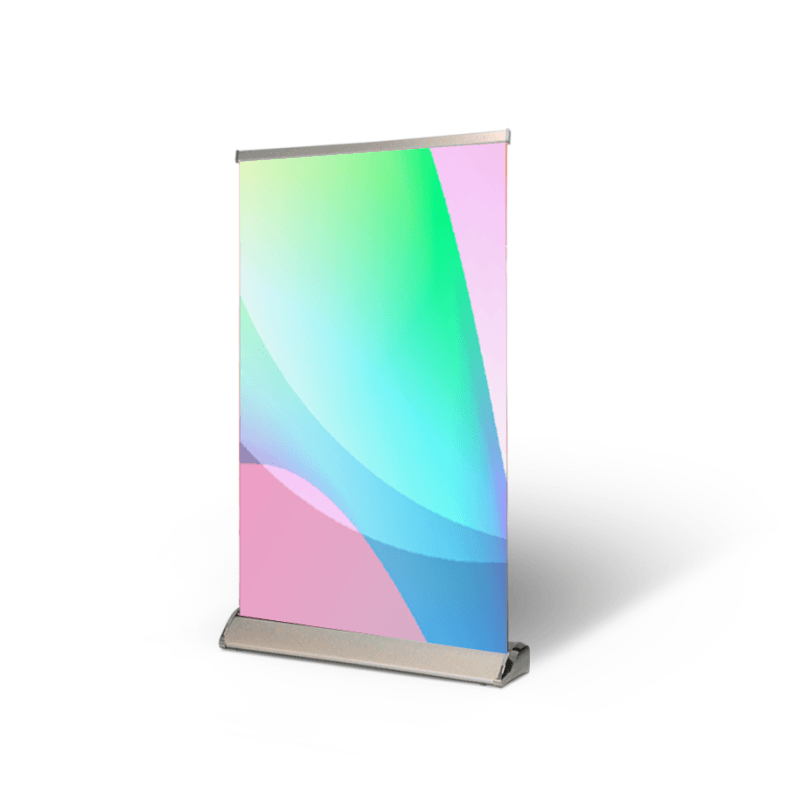 Table Top Pull Up Banner 13 oz Matte Vinyl