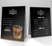 Tent Cards 14pt + Matte Finish